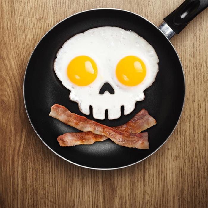 Äggform – stekta dödskallar