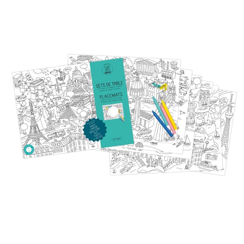 Bordsunderlägg City map