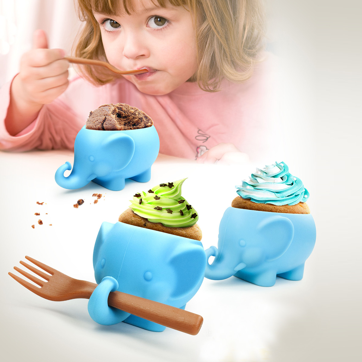 "Cupcakeform ""Elefant"""""""