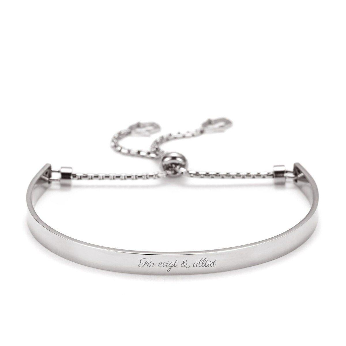 Balance – elegant armband med gravyr