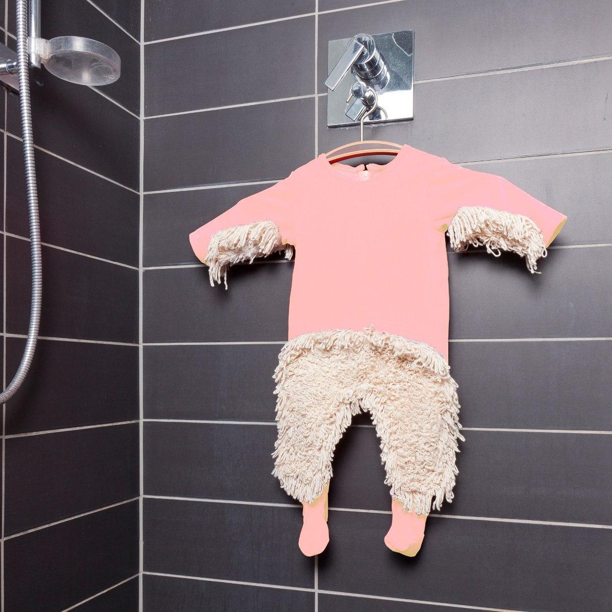 Bebisdräkt Mopp - låt din bebis städa!