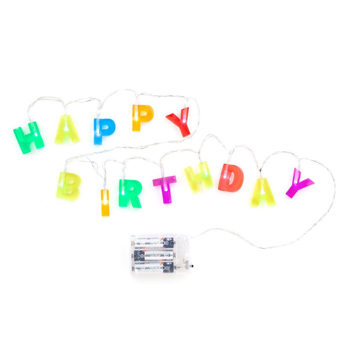 Dekorationsljusslinga Happy Birthday