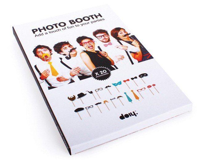 Fotoboxen med rekvisita