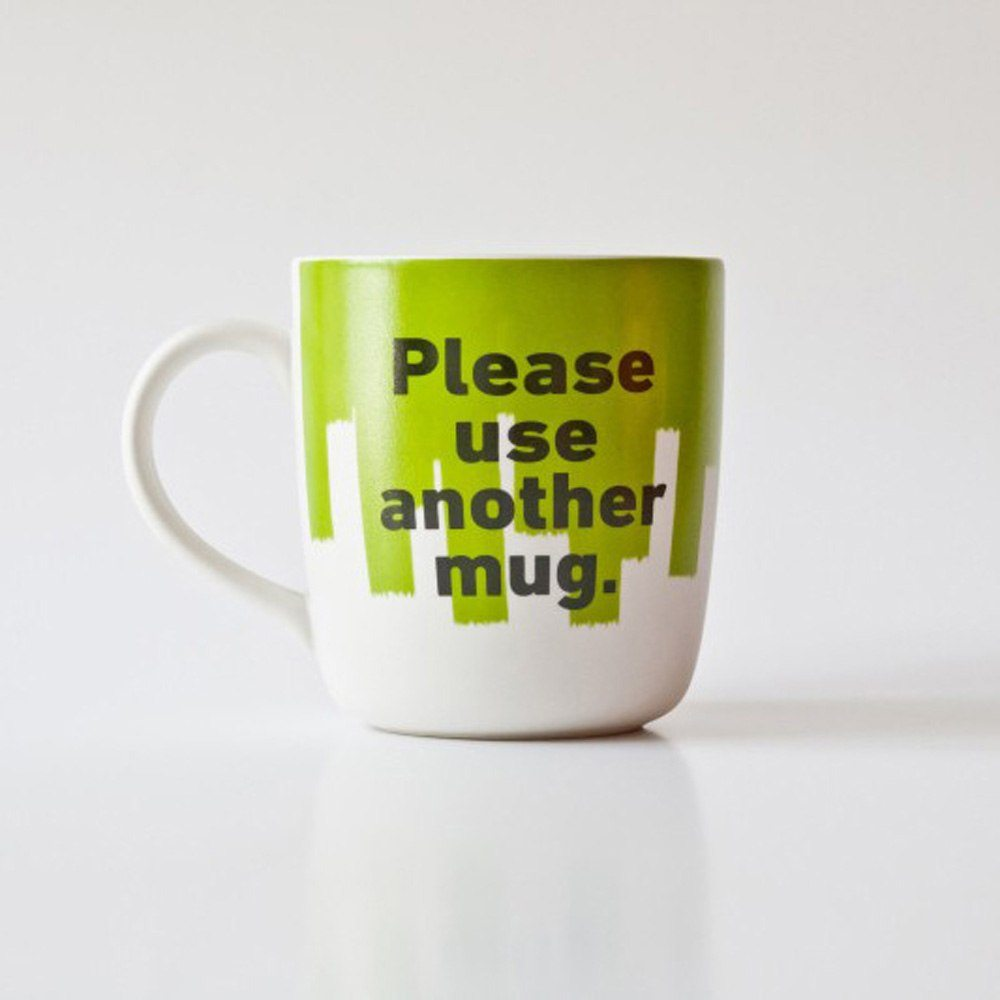Mugg Mr P  – Please Use Another Mug