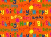 Presentpapper Happy Birthday