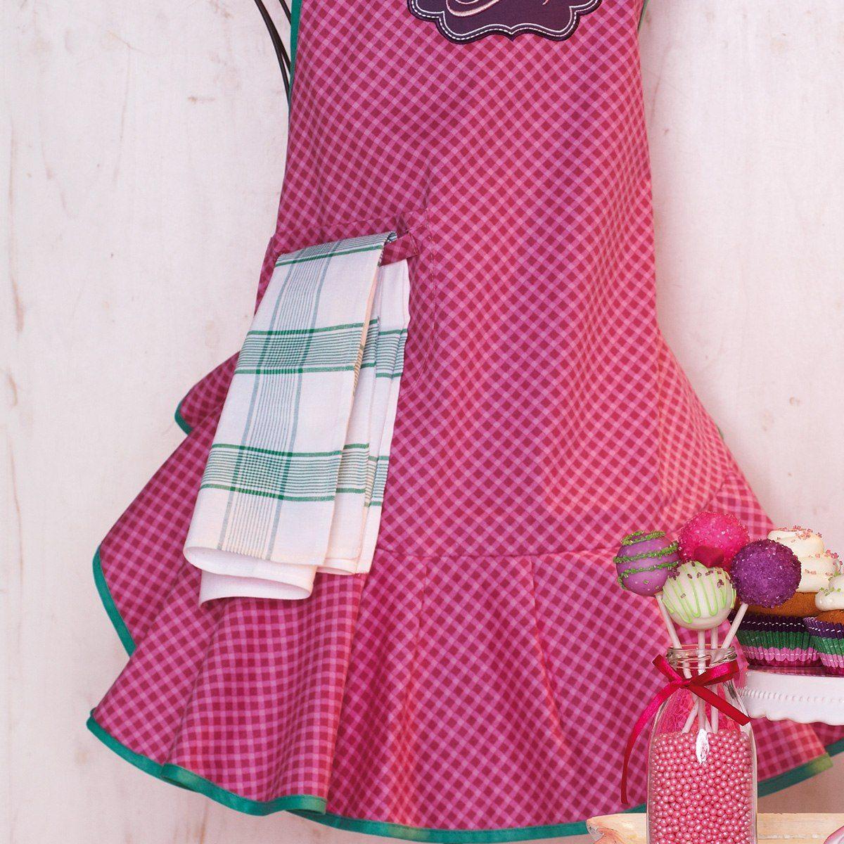 Retro förklädesklänning