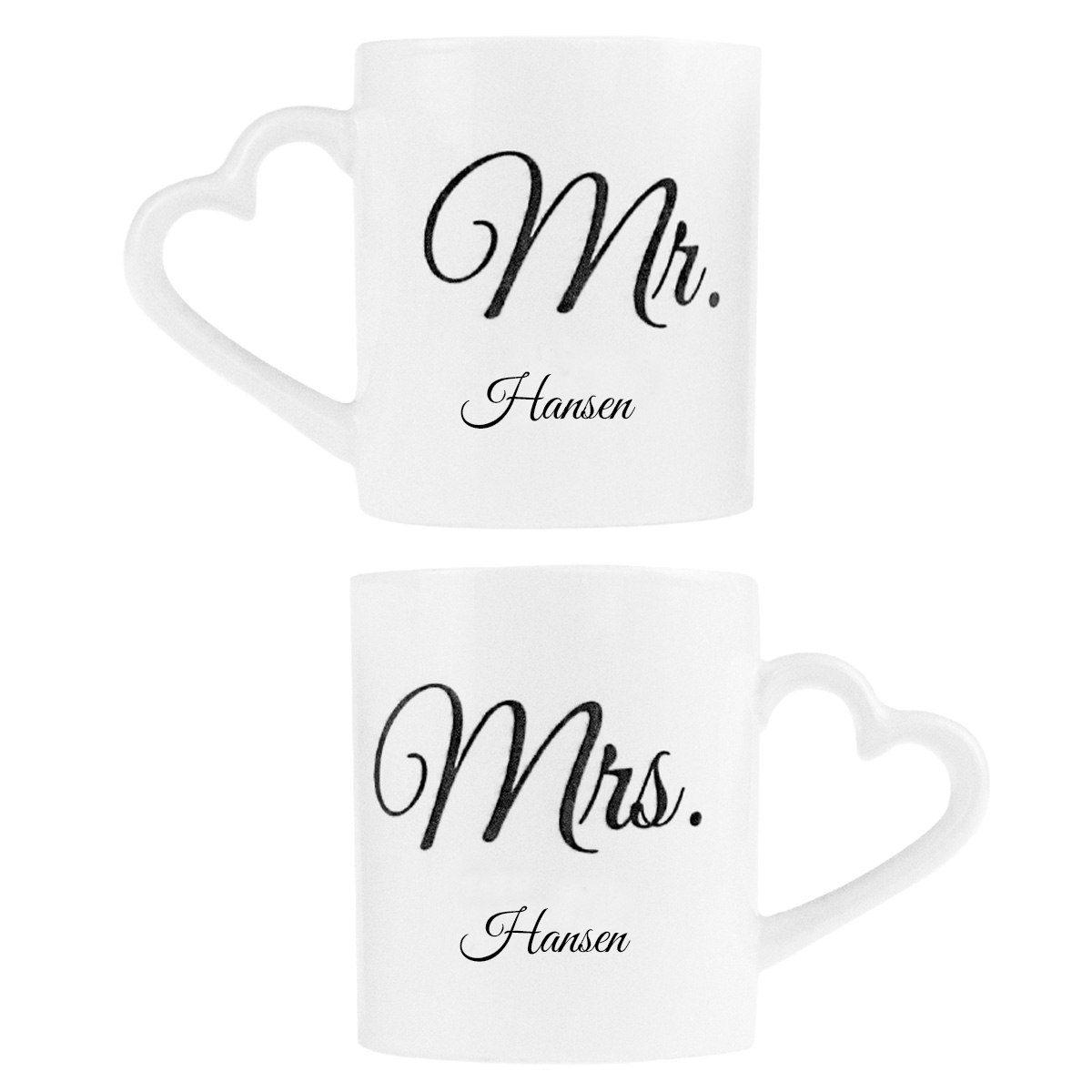 """Romantiska partnermuggar """"Mr & Mrs"""""""