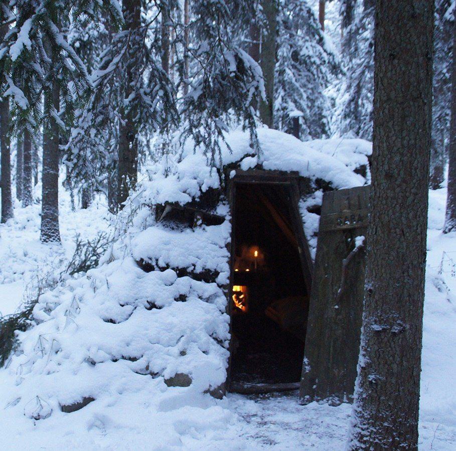 Romantiskt äventyr i kolarkoja för 2 vinter