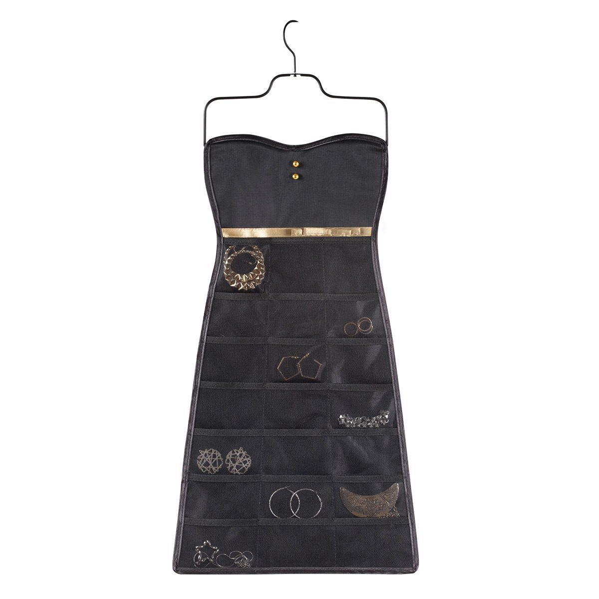 Smyckesförvaring som klänning i svart