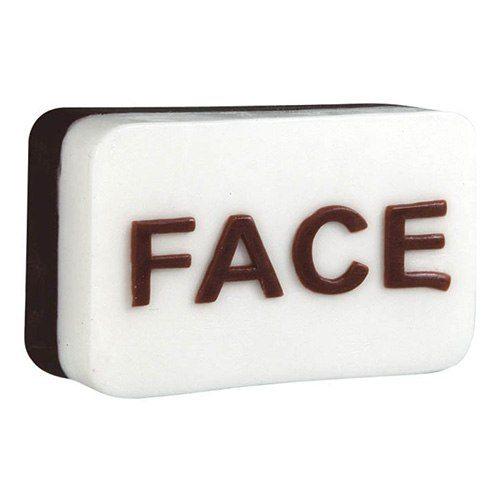 Tvål som undviker förväxling; ansikte eller rumpa