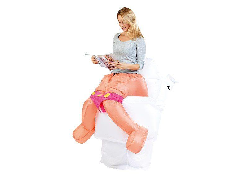 Uppblåsbar maskeraddräkt - Toalett