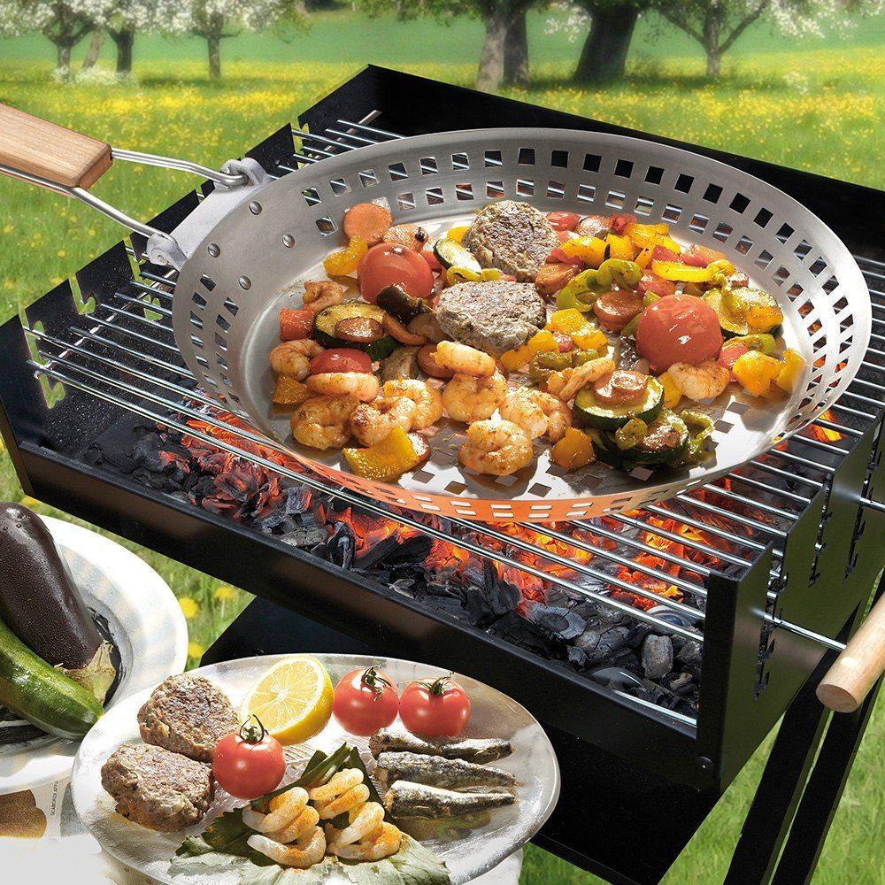 BBQ-grillpanna av ädelstål