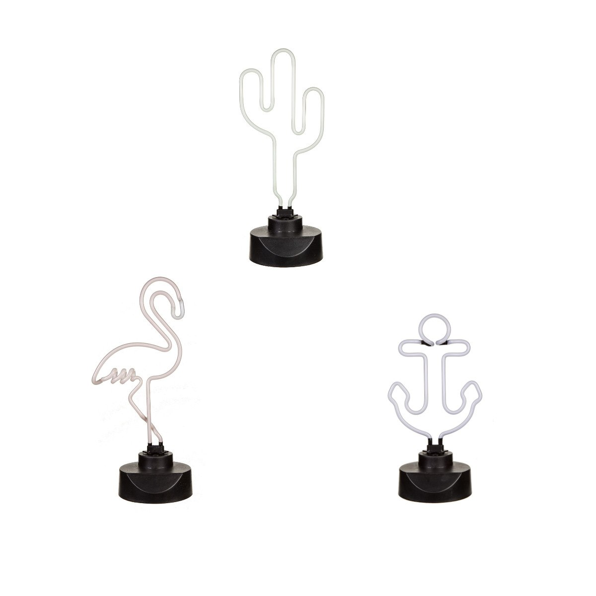 Neonlampor i olika former