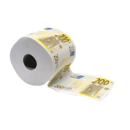 Pengatoalettpapper 200 Euro