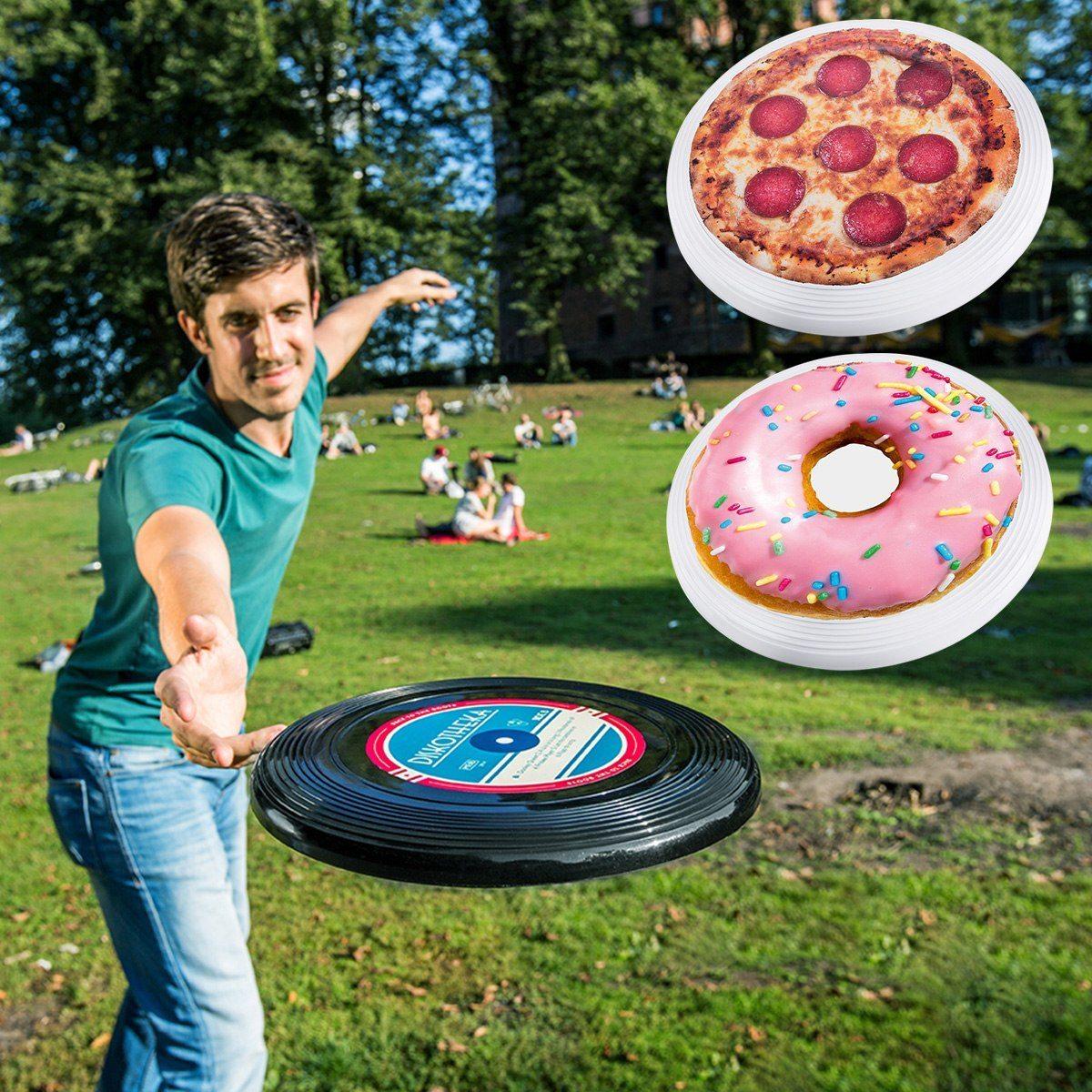 Pizza Donut Vinyl Frisbee