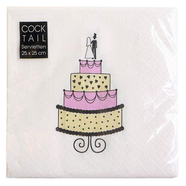 Servett - Bröllopstårta