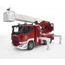 Scania R-Serie brandbil-räddningsstege+ vattenpump
