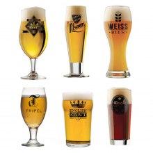 Världens öl: set med 6 st glas