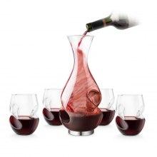 Vinset för smakupplevelser: karaff och glas