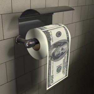 100 dollars-toalettpapper