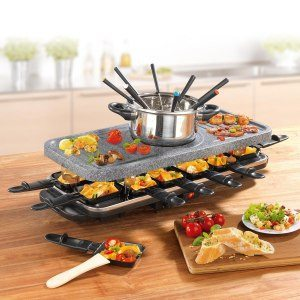 2in1: Fondue & Raclette set