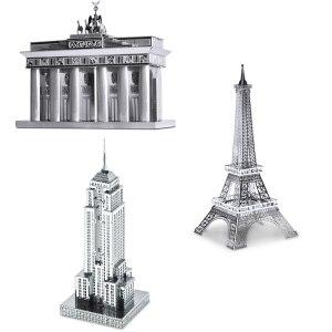 3D-Byggsats i metall Kända Byggnader