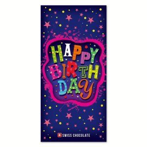 "3D-Schokolade ""Happy Birthday"""