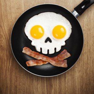 Äggform - stekta dödskallar