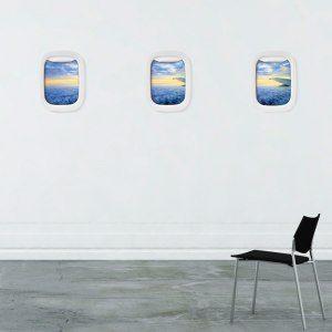 Air Frame - bildramar med flygfönster-känsla (3 st)