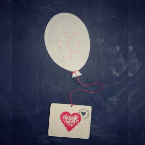 Ballongpost med konfetti