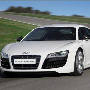 Bankörning Audi R8 – front