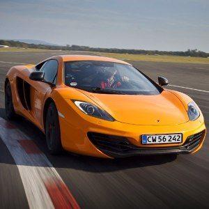 Bankörning McLaren – Knutstorp - front high
