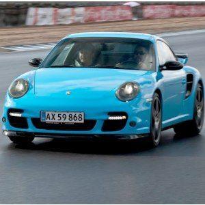 Bankörning Porsche Turbo – front