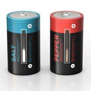 Batteri Salt och Pepparkvarnar
