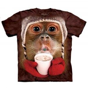 "Big Face Tier-T-Shirt ""Orang-Utan"" – für Kinder"