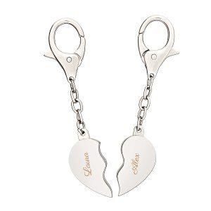 Broken heart – nyckelringar i silverfärg