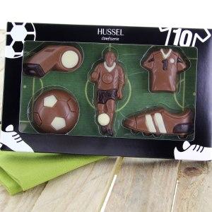 Chokladfotbolls-uppsättning