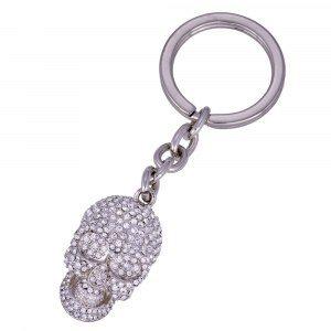 """Diamond Skull"" nyckelring"