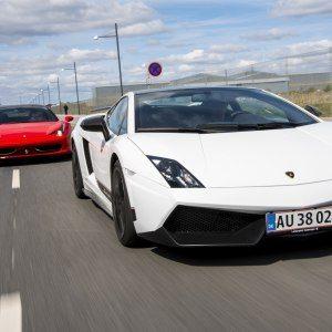 Ferrari vs Lamborghini på bana – Knutstorp