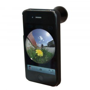 Fish-eye-objektiv för iPhone
