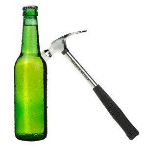 """Flaschenöffner """"Feierabend-Hammer"""" mit Gravur"""