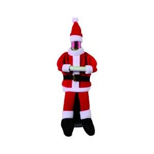 """Flasköverdag """"jultomte"""" (fleece)"""