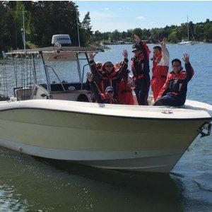 Flugfiske från båt för 2 personer, halvdag - Stockholm