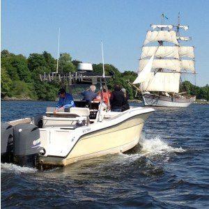 Flugfiske från båt för 2 personer, heldag - Stockholm