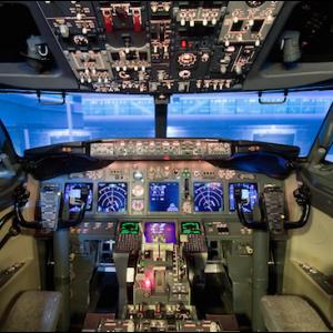 Flyglektion Boeing 737 för 2 personer - Cockpit