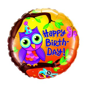 Födelsedagsballong med uggla
