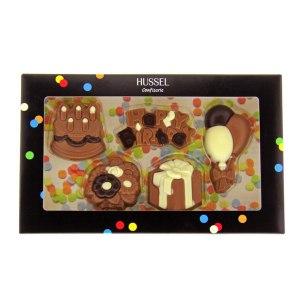 Födelsedagshälsning av choklad av Hussel