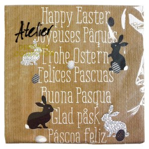 Glad påsk servetter på sju olika språk