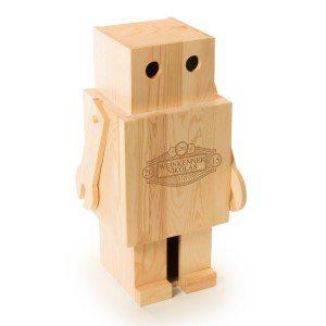 """Graverad vinbox från RACKPACK """"Robot"""""""