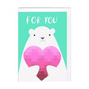 Gulligt isbjörnskort